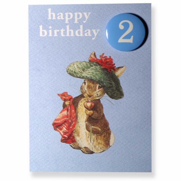 Benjamin Bunny 2nd Birthday Badge Card