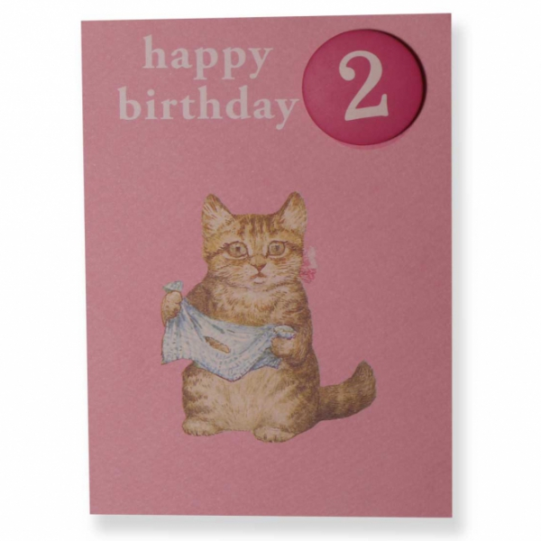 Miss Moppet 2nd Birthday Badge Card