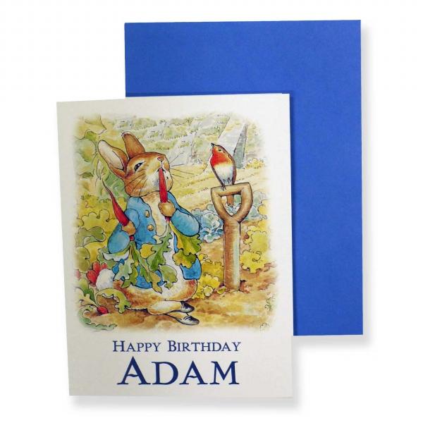Boys personalised birthday cards beatrix potter shop boys personalised birthday cards bookmarktalkfo Choice Image
