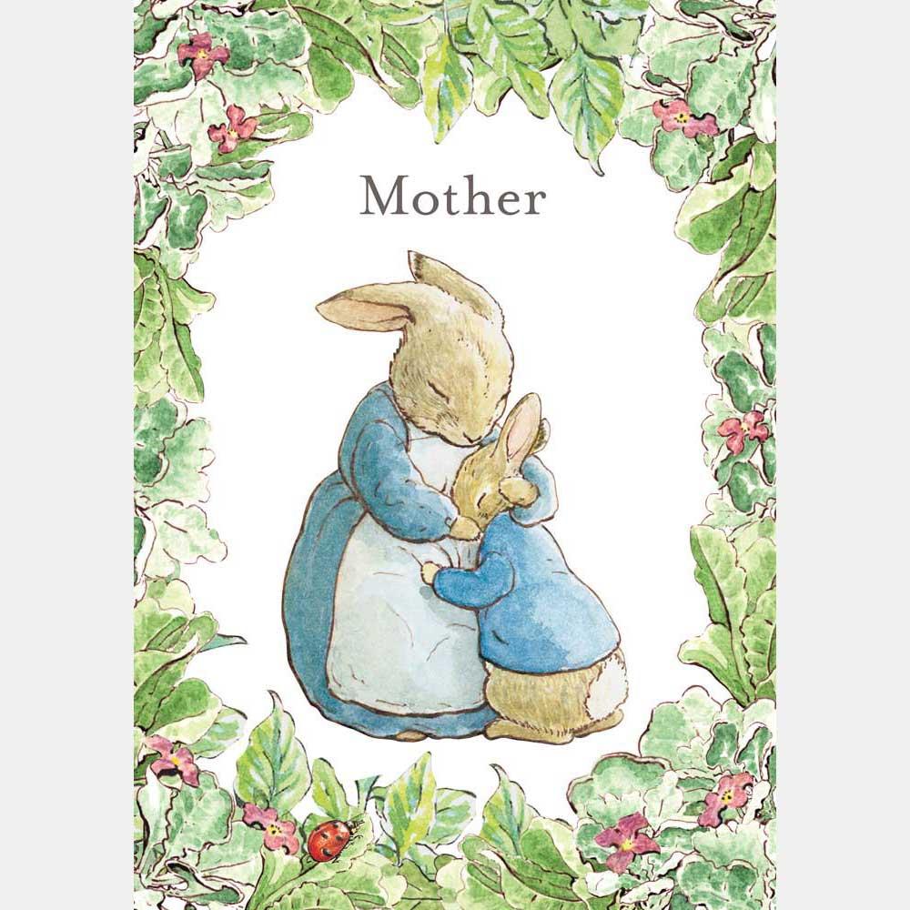 Mrs Rabbit Amp Peter Rabbit Mother Card Beatrix Potter Shop