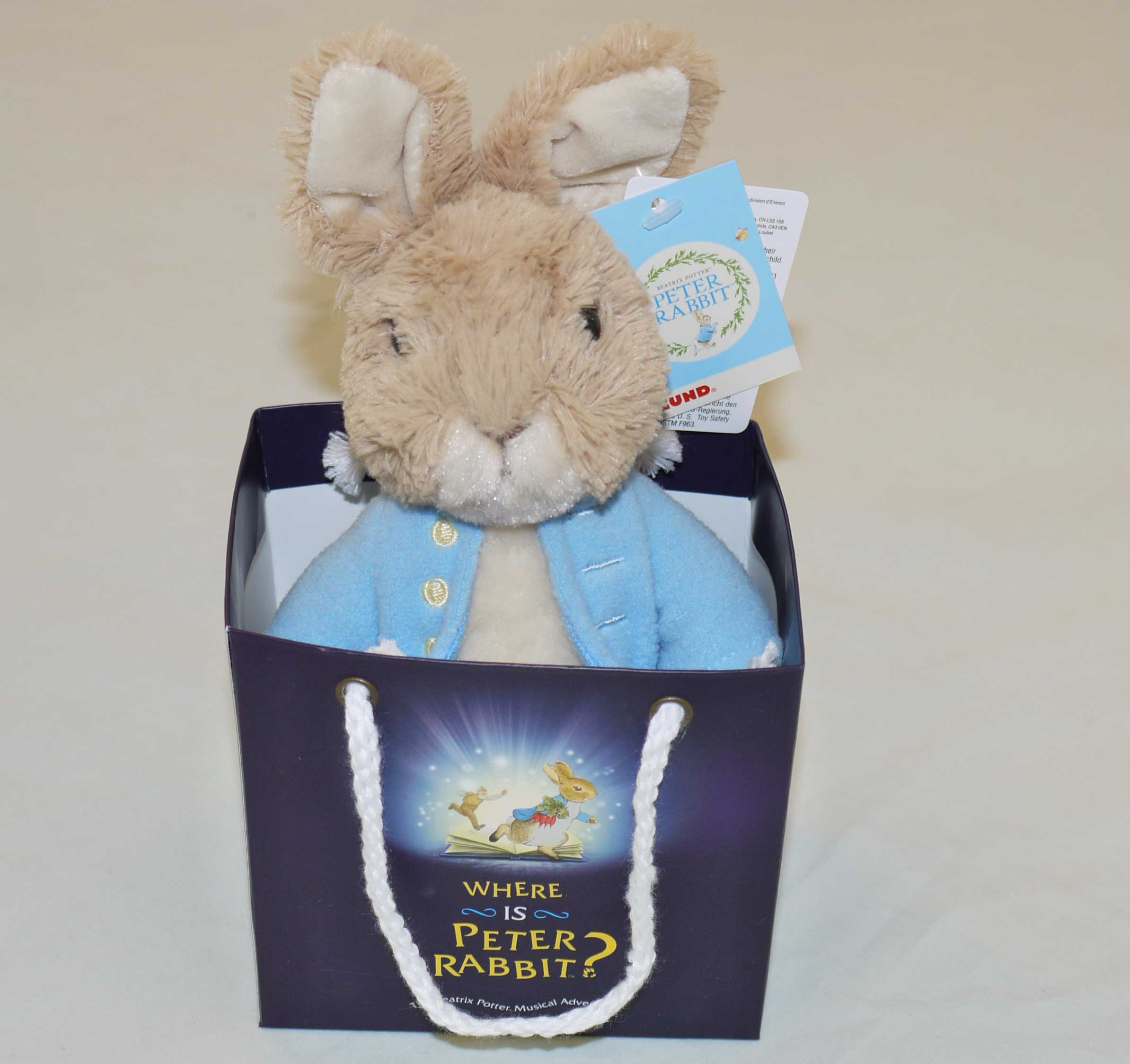 Gift Bag Toys : Where is peter rabbit soft toy in a gift bag medium