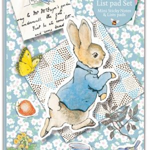 Peter Rabbit Floral Notes and List Pad Set