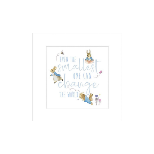 'Even the Smallest One' Peter Rabbit Mounted Print