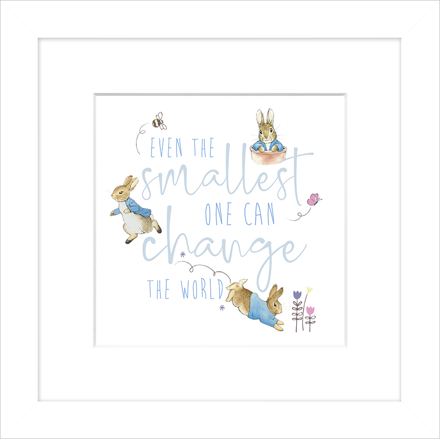 Even the smallest one Peter Rabbit Framed Print