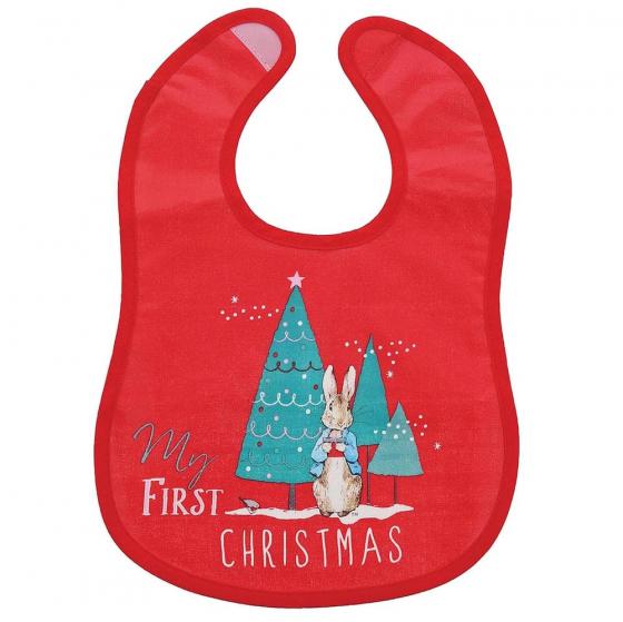 My First Christmas.Peter Rabbit My First Christmas Bib