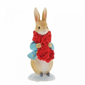 Peter Rabbit in a Festive Scarf Figurine