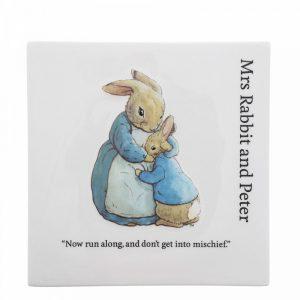 Mrs. Rabbit and Peter Rabbit Decorative Wall Plaque