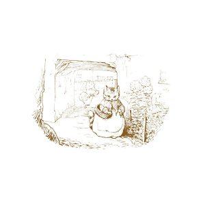 Mittens Sketch Greetings Card