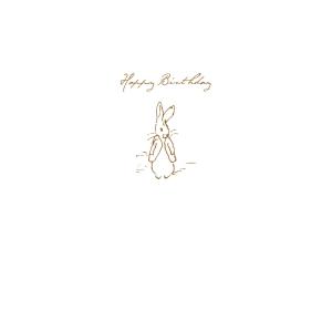 Peter Rabbit Sketch 'Happy Birthday' Card