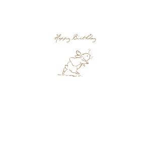 Peter Rabbit Running Sketch 'Happy Birthday' Card