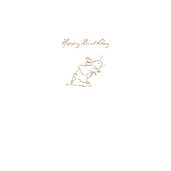Peter Rabbit Running Sketch 'Happy Birthday' Card