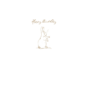 Rabbit Sketch 'Happy Birthday' Card