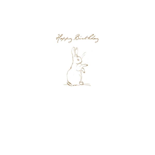 Rabbit Sketch 'Happy Birthday' Card