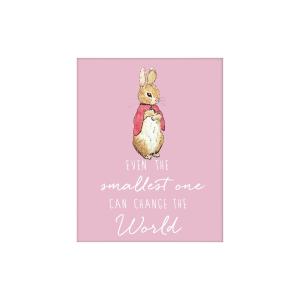 Flopsy Bunny 'Change the World' Artko Mounted Print