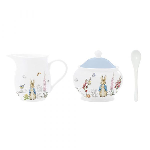Peter Rabbit Classic Creamer And Sugar Bowl