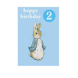 Peter Rabbit 2nd Birthday Badge Card