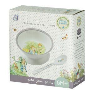 Peter Rabbit Bowl with suction pad and spoon set