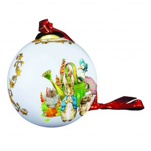 Peter Rabbit and Garden Friends Reutter Christmas Bauble