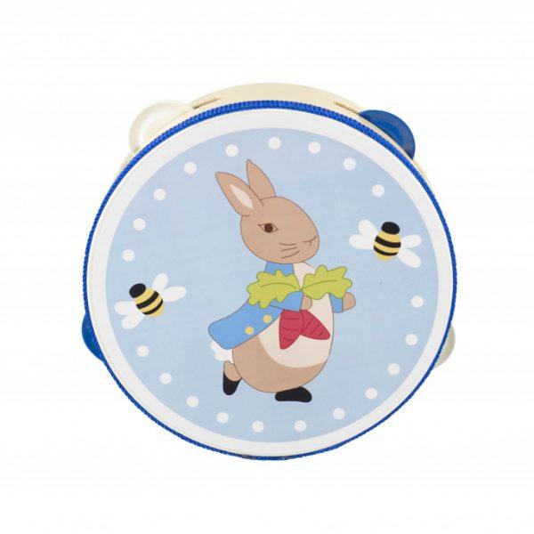 Peter Rabbit Wooden Tambourine