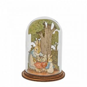 Mrs. Rabbit with Flopsy, Mopsy, Cotton Tail and Peter Wooden Figurine