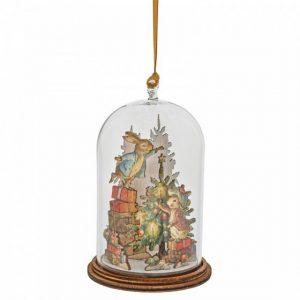 Peter and Benjamin Bunny Christmas Wooden Hanging Ornament