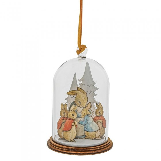 Peter Rabbit and Family at Christmas Wooden Hanging Ornament