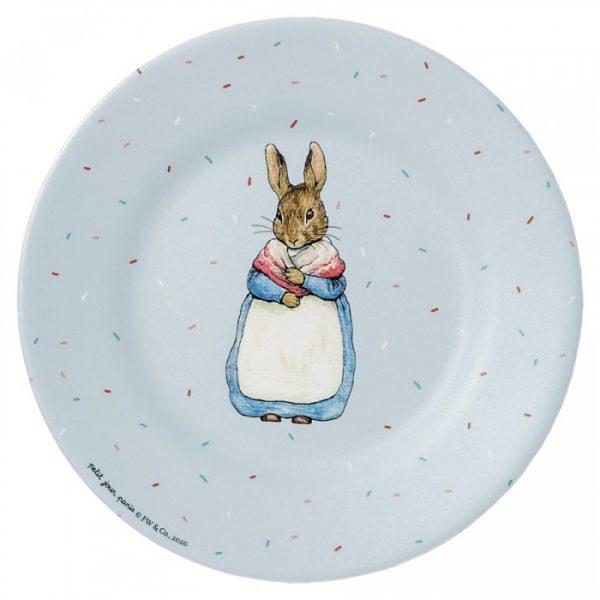 Mrs Rabbit Dessert Plate