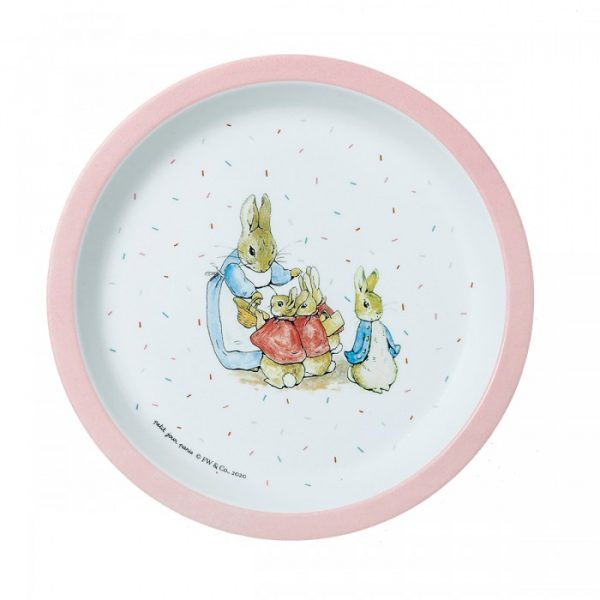 Mrs Rabbit Pink Baby Plate