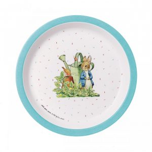 Peter Rabbit Blue Baby Plate