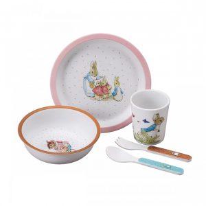 Mrs Rabbit Pink 5-piece set in Gift Box