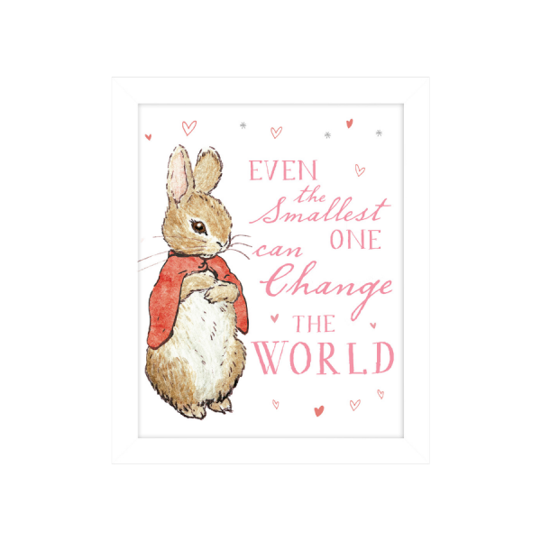 Flopsy Bunny 'Even the Smallest One' Framed Print