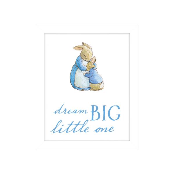 Peter Rabbit 'Dream Big' Framed Print