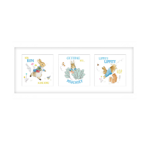 Peter Rabbit Framed x3 Prints