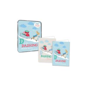 Peter Rabbit Dashing through the Snow Christmas Notecards
